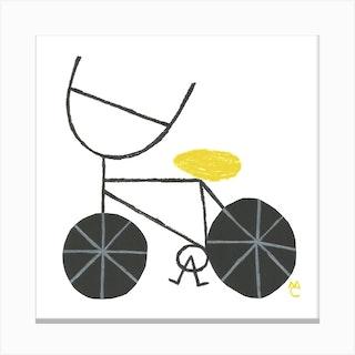 Bike 8 Square Canvas Print