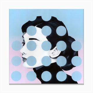 Audrey DOTS Canvas Print