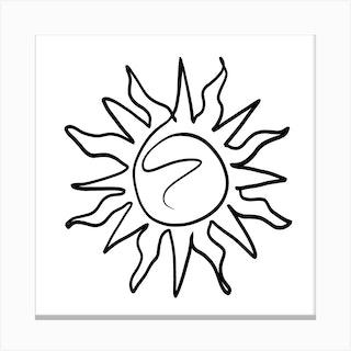 The Sun Square Canvas Print