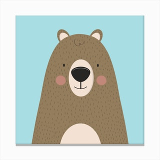 Bears Are Friendly Canvas Print
