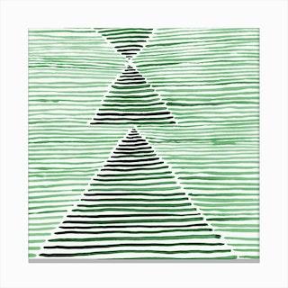 Rosario Watercolor In Dark Green Canvas Print