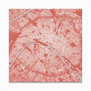 Paris in Pink Canvas Print