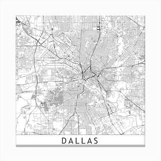 Dallas Map Canvas Print