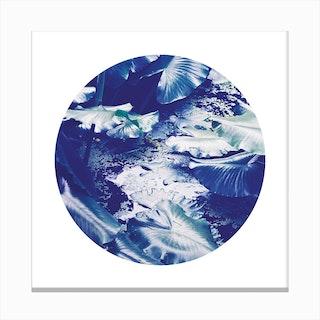 Into the Tropics Blue Canvas Print