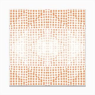 Gods Eye Block Print In Orange Canvas Print