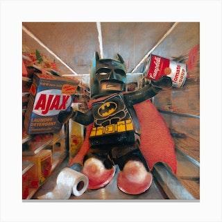 Lockdown Lego Batman Canvas Print