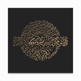 London - Calligraphy Canvas Print