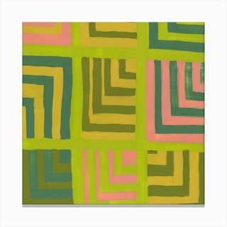 Painted Color Block Squares In Multi Canvas Print