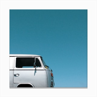 Wind Water Silver Square Canvas Print