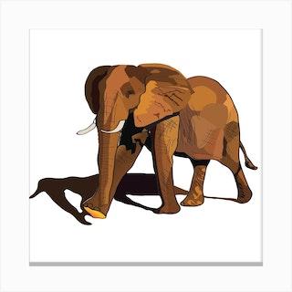 Desert Elephant 2 Canvas Print