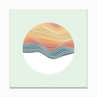Retro Waves Canvas Print