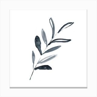 Minimal Leaf Canvas Print