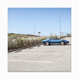 Blue Corvette Canvas Print