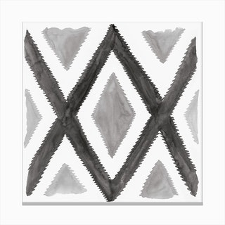 Del Rio Watercolor Print In Black And White Canvas Print