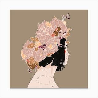 Flowercrown Canvas Print