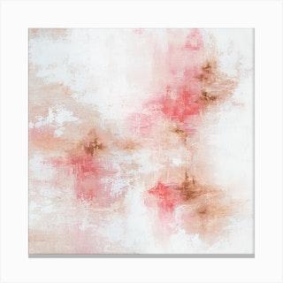 Rose Gold Square Canvas Print