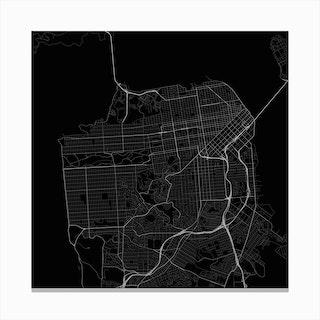 San Francisco in Black (Traffic) Canvas Print