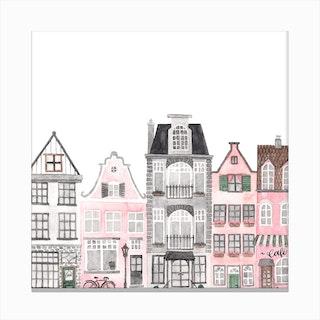 Amsterdam Houses 1 Canvas Print