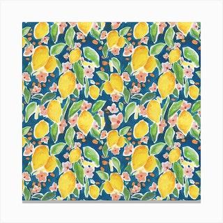 Watercolour Citrus Canvas Print