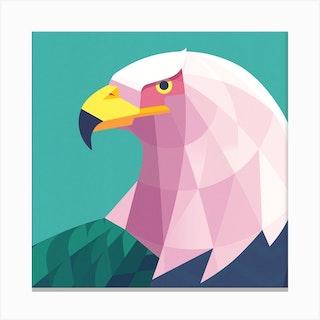Bald Eagle Square Canvas Print