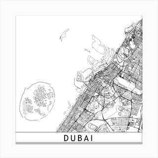 Dubai Map Canvas Print