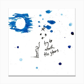 Try To Reach The Stars 2 Canvas Print