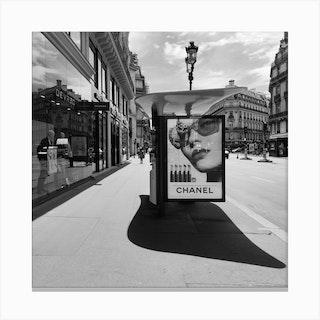 Chanel Billboard In Paris Canvas Print
