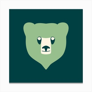 Bear Cub Mint Canvas Print