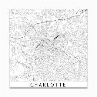 Charlotte Map Canvas Print