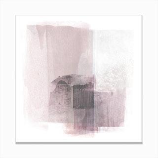 Blush Square Canvas Print
