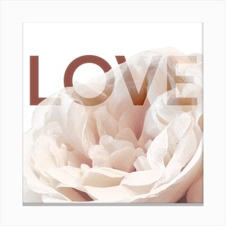 Rose Love Art Print Square Canvas Print