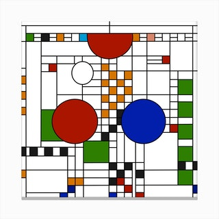 Frank Lloyd Wright Stained Glass Canvas Print