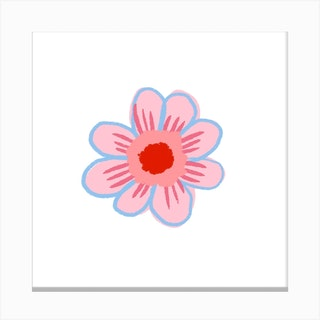 Sunflower Pink Canvas Print