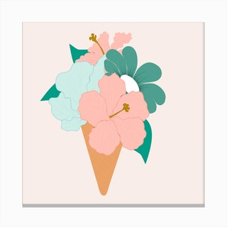 Beautiful Ice Cream Flower 2 Canvas Print