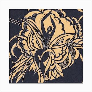 Flower Dancer Yellow Canvas Print