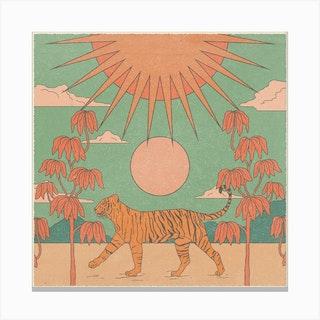 Tiger Queen Square Canvas Print