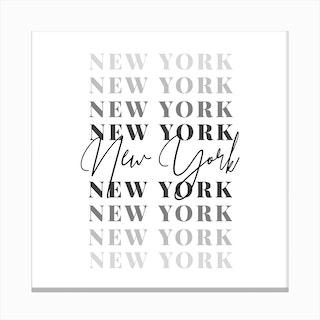 New York Fade Font Canvas Print
