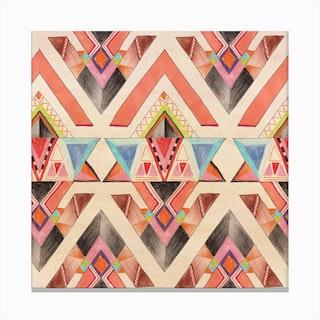 Aztec Geometric Canvas Print