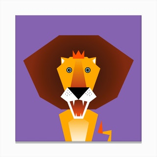 Kids Room Lion Canvas Print