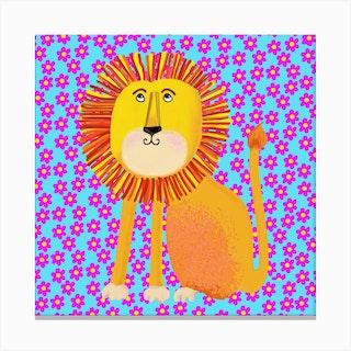 Lion Square Canvas Print