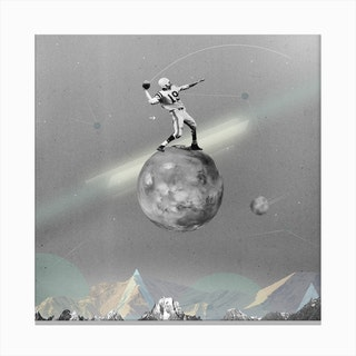 Space Football Canvas Print