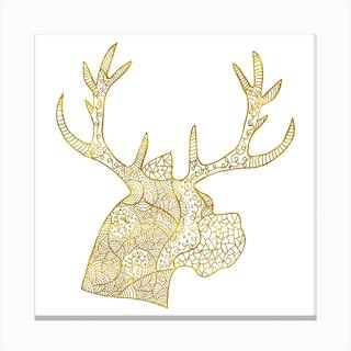 Pattern of Deer Canvas Print