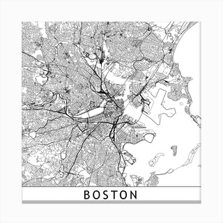Boston Map  I Canvas Print