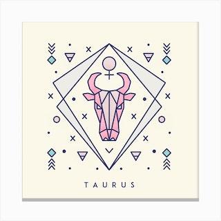 Taurus Square Canvas Print
