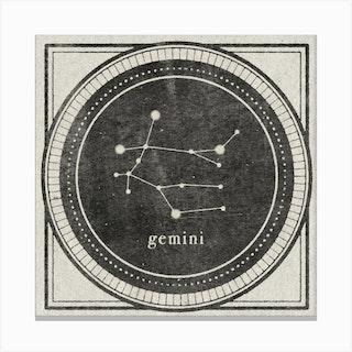 Zodiac Gemini Canvas Print