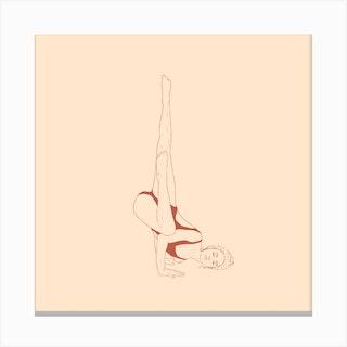 Yoga Fallen Angel Canvas Print