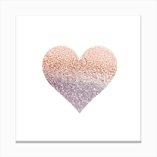 Rosegold Heart Canvas Print