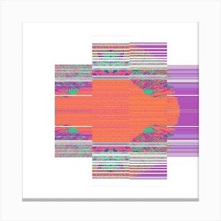 Citrus Streak Square Canvas Print