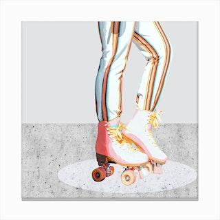 Skating Canvas Print