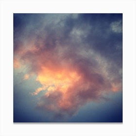 Fiery Cloud Canvas Print